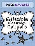 Classroom Coupons, PBIS Rewards EDITABLE- Stars Theme