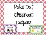 Classroom Coupons: Polka Dot