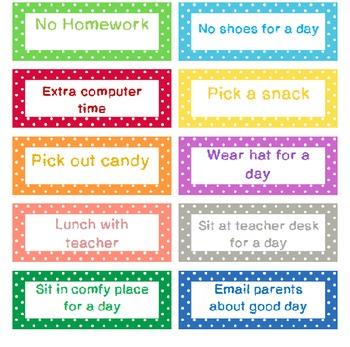 Classroom Coupons Polka Dots