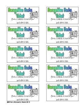 Classroom Coupons - Reward Tickets - Elementary Incentives