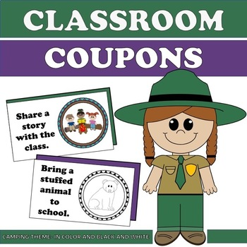 Classroom Coupons- Rewards for K-4