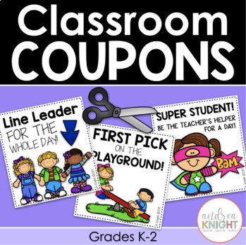 Classroom reward coupons ideas