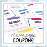 Classroom Coupons Student Incentives (editable)