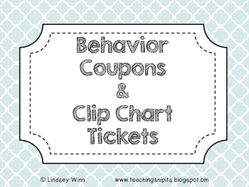 Classroom Coupons & Tickets