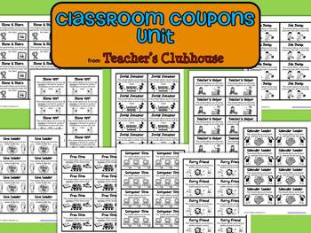 Classroom Coupons Unit from Teacher's Clubhouse
