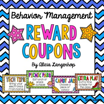 Classroom Coupons for Behavior Management