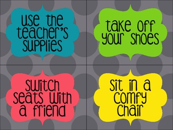 Classroom Coupons for Good Behavior
