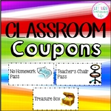 Classroom Coupons for Rewards PK-4