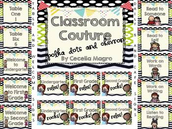 Classroom Couture - Chevron and Polka Dots