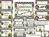 Classroom Couture - Owls, Chevron and Polka Dots