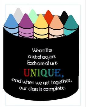 Classroom Crayons Bulletin Board