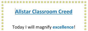 Classroom Creed