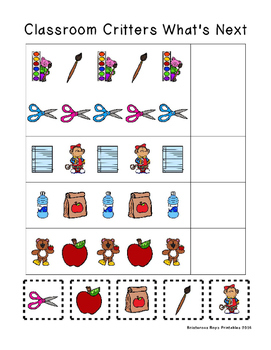 Classroom Critters Back to School PreK Printable Sampler Pack