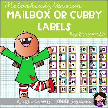 Classroom Cubby labels 1-36