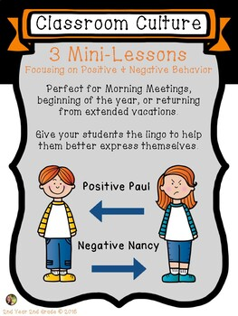 Classroom Culture Behavior Management Mini-Lessons for Morning Meetings