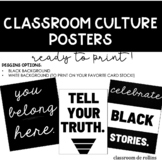 Classroom Culture Posters Back to School