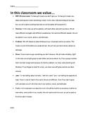 Classroom Culture Reading