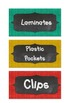 Classroom Cupboard labels