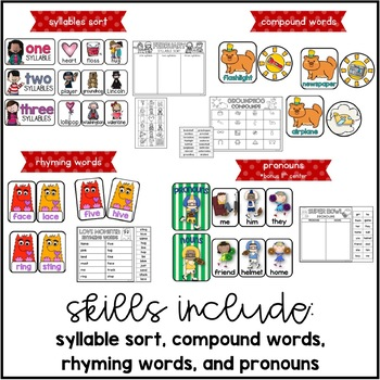 Classroom Cupids {10 Literacy Centers for February}