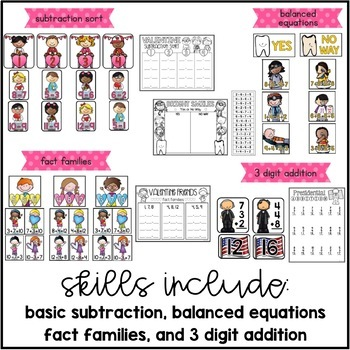 Classroom Cupids {10 Math Centers for February}