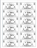 Peanuts Theme Classroom Currency