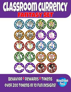 Classroom Currency - Behavior Tokens and Classroom Rewards - Fantasy Set