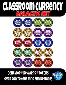 Classroom Currency - Behavior Tokens and Classroom Rewards - Galactic Set