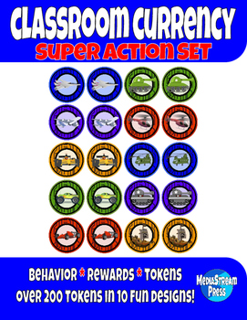 Classroom Currency - Behavior Tokens and Classroom Rewards - Super Action Set