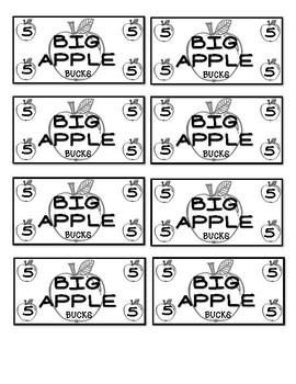 Classroom Currency - Big Apple Bucks