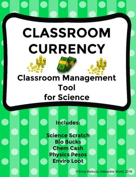 Classroom Currency - Classroom Management Tool for Science