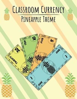 Classroom Currency, Economy, Money, Cash: Pineapple Theme