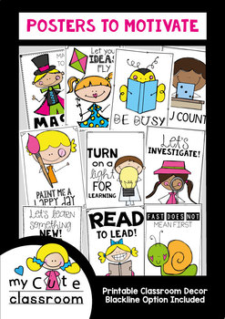 Classroom Posters to Motivate and Build Classroom Community