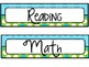 Classroom  Daily Schedule Aqua & Lime theme  UPDATED Editable Page Included