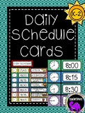 Classroom Daily Schedule Cards {K-2}