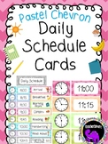 Classroom Daily Schedule Cards {Pastel Chevron}