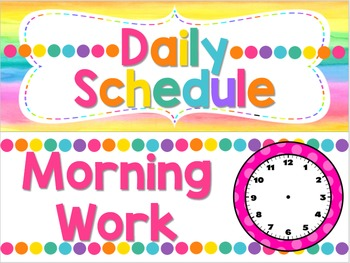 Classroom Daily Schedule ~ Editable!