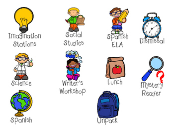 Classroom Daily Visual Schedule (Agenda Icons)