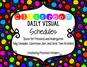 Classroom Daily Visual Schedules {Icons for Jobs, Circle &