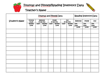 Data Collection Chart (Reading)