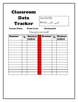 Classroom Data Tracker
