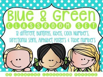 Classroom Décor {Blue & Green Theme}