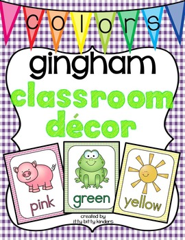 Color Posters: gingham