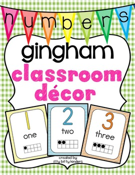Number Posters: gingham