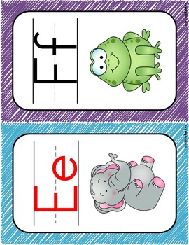 Alphabet Posters: scribbles