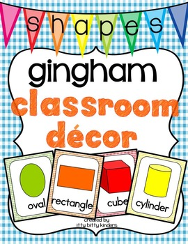 Shape Posters: gingham