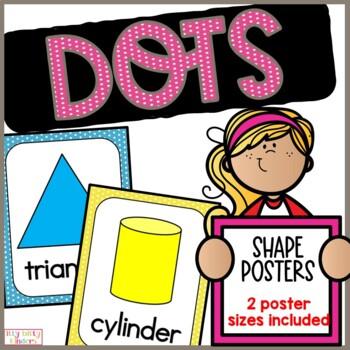 Shape posters: polka dots