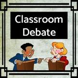 Classroom Debate Activity Plan