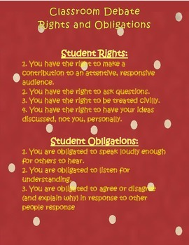 Classroom Debate Rights and Responsibilities