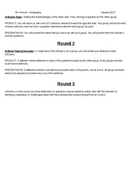 Classroom Debate Strategies and Activities: A Class Divided