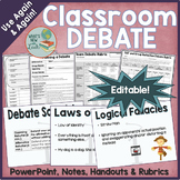 Classroom Debate for Any Topic Editable